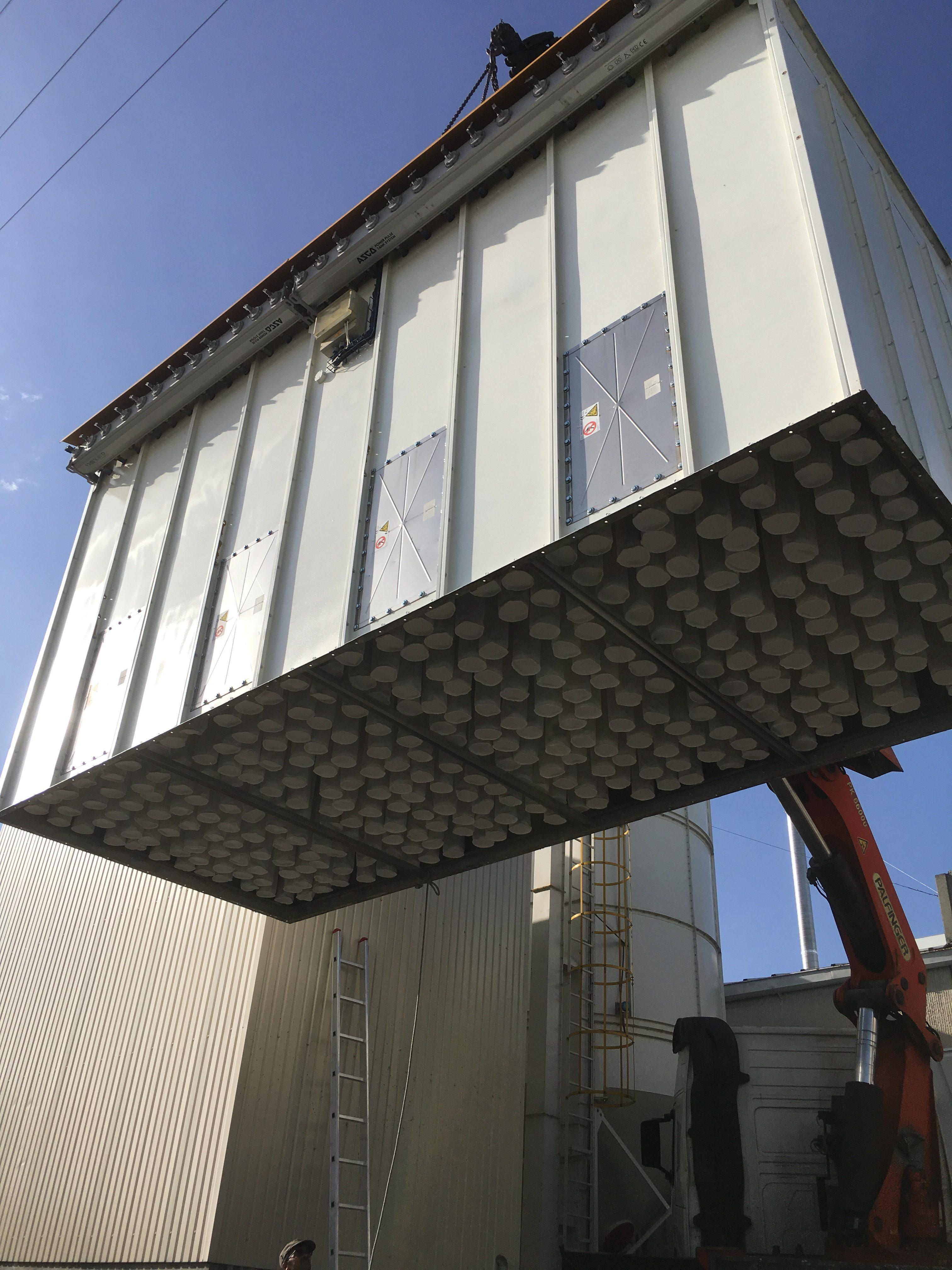 filtro de mangas ventilação industrial