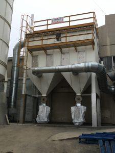 filtro de mangas aspiração industrial