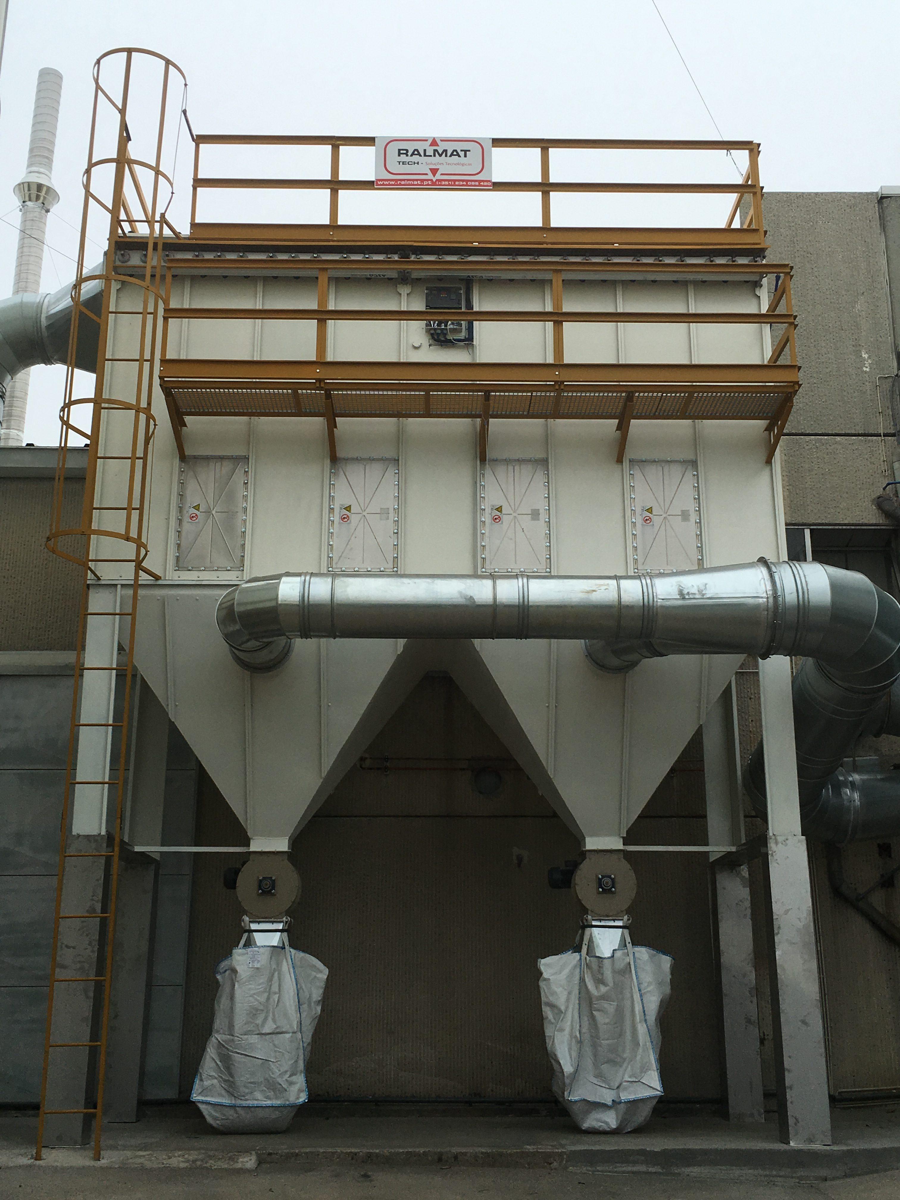 filtro de mangas industrial
