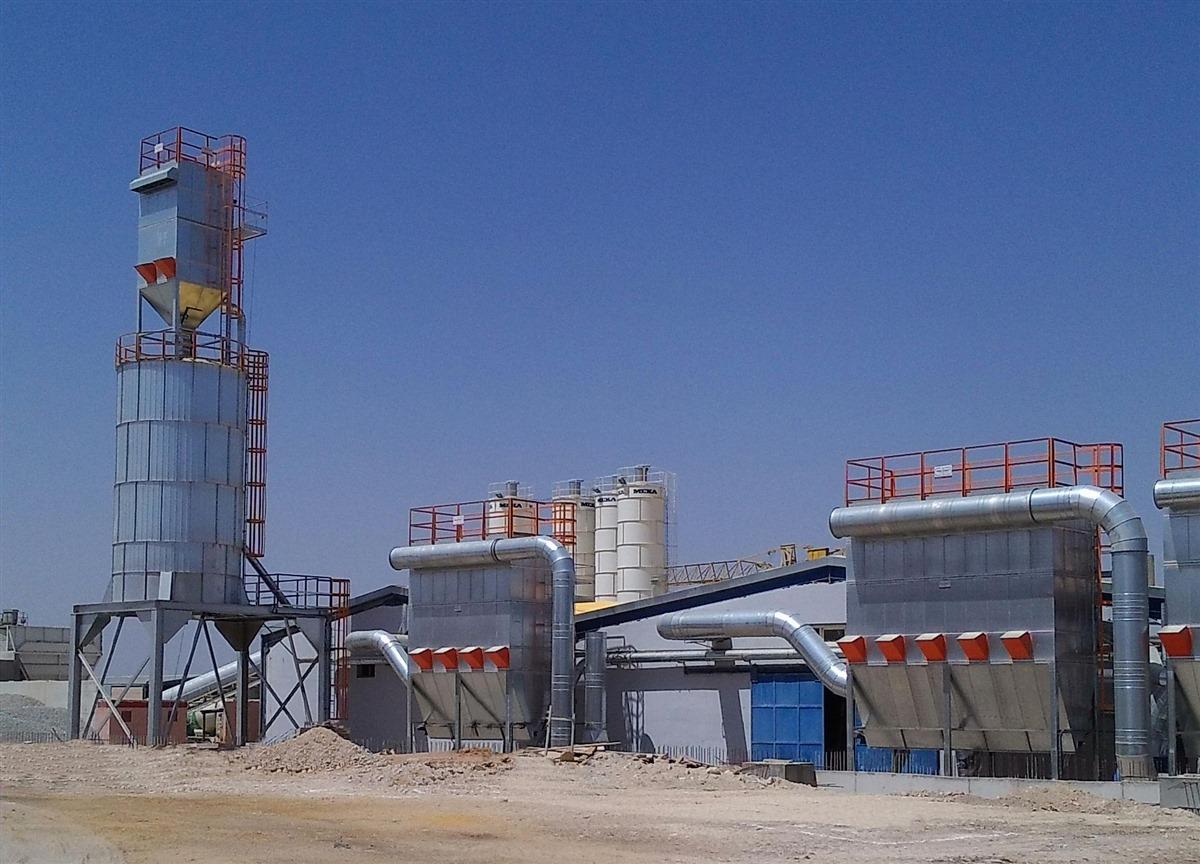 silo e filtros de mangas